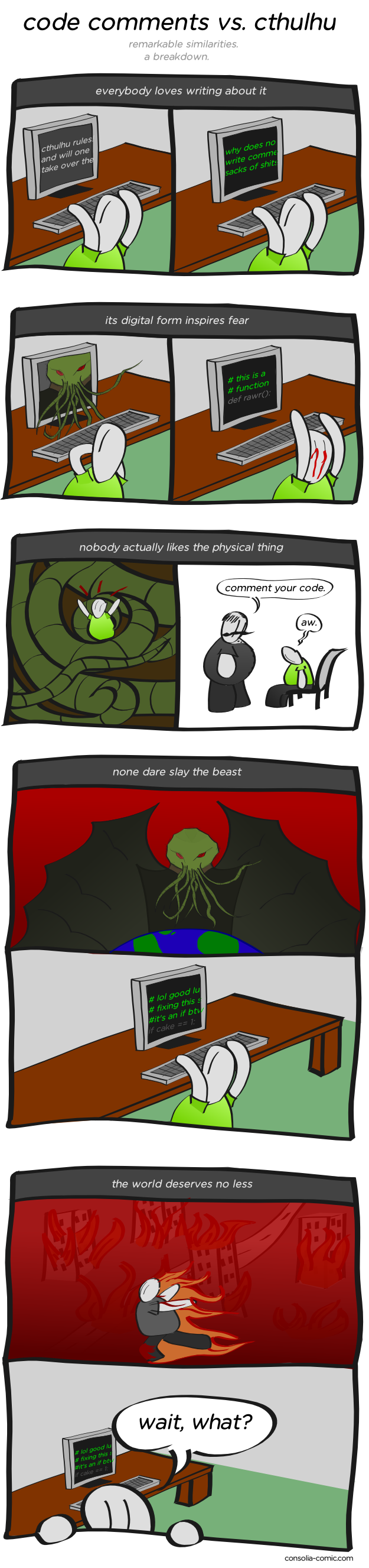 Code Comments vs Cthulhu